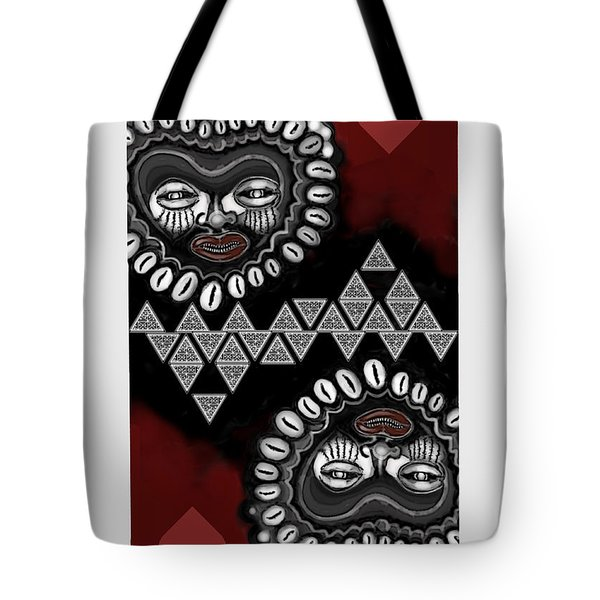 African Queen-of-hearts Card Tote Bag by Carol Jacobs
