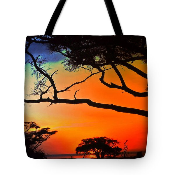 African Skies Tote Bag by Lydia Holly