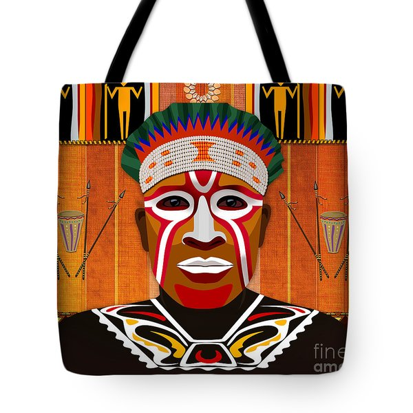 African Tribesman 3 Tote Bag by Bedros Awak