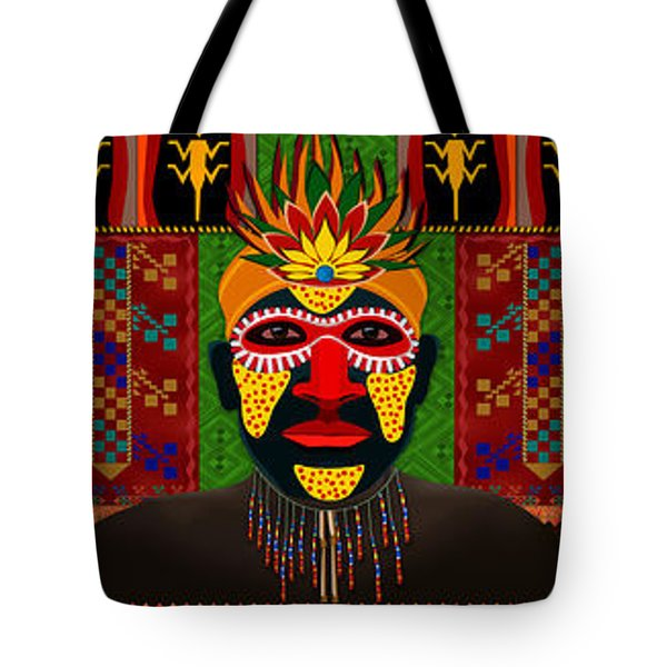 African Tribesmen Tote Bag by Bedros Awak
