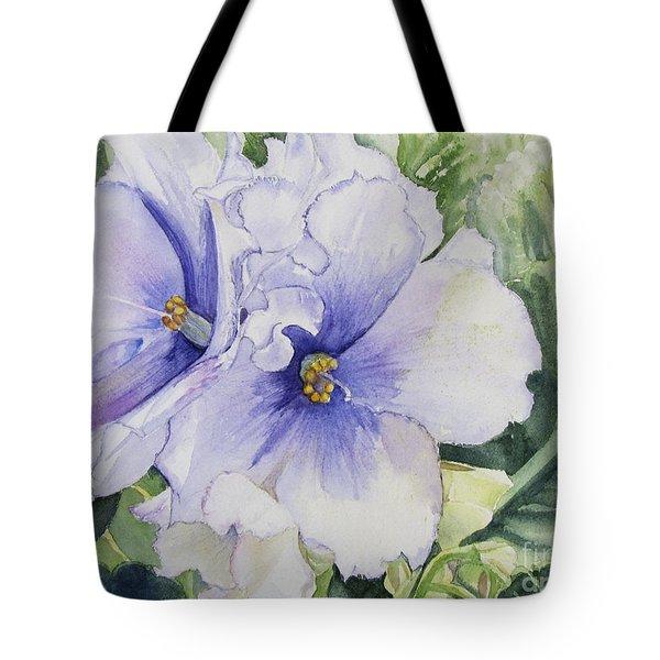 African Violet Tote Bag by Carol Flagg
