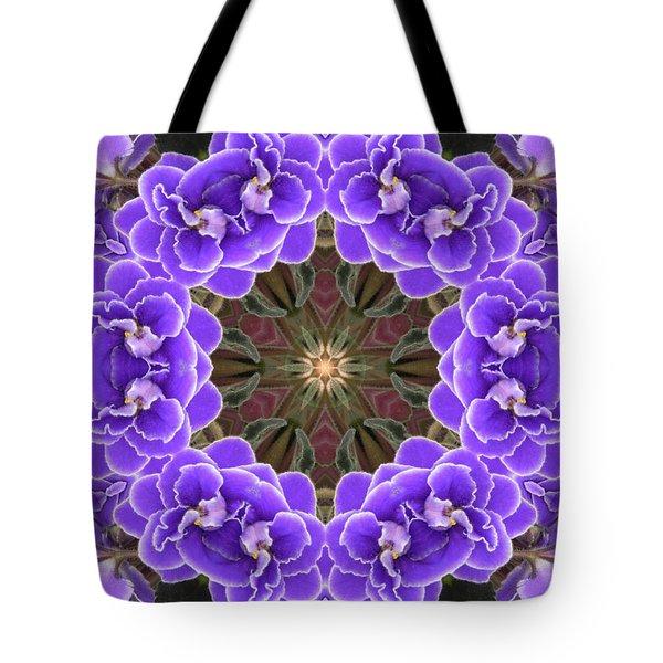 African Violet Mandala Tote Bag