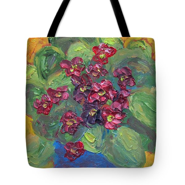 Tote Bag featuring the painting African Violet by Susan  Spohn
