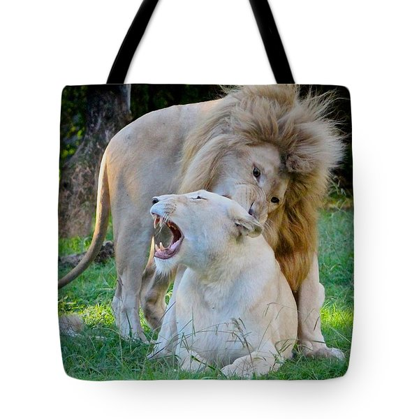 African White Lions Tote Bag