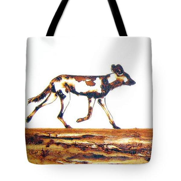 Endangered African Wild Dog - Original Artwork Tote Bag