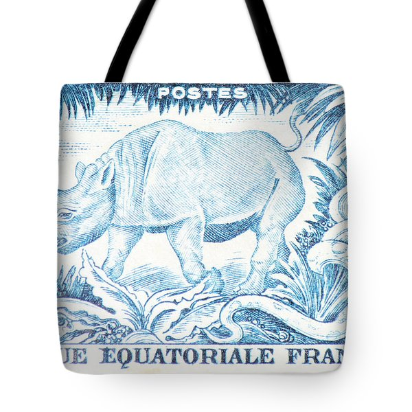 Afrique Rhino Tote Bag
