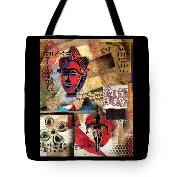 Afro Aesthetic B Tote Bag by Everett Spruill