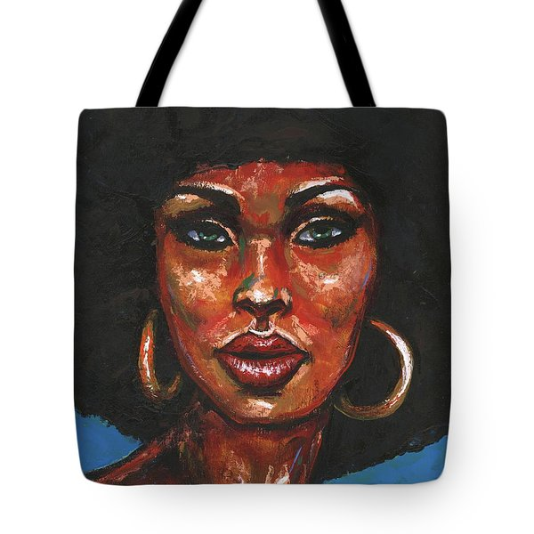 Tote Bag featuring the painting Well Hello by Alga Washington
