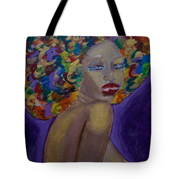 Tote Bag featuring the painting Afro-chic by Apanaki Temitayo M