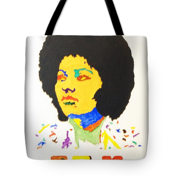 Tote Bag featuring the painting Afro Pam Grier by Stormm Bradshaw