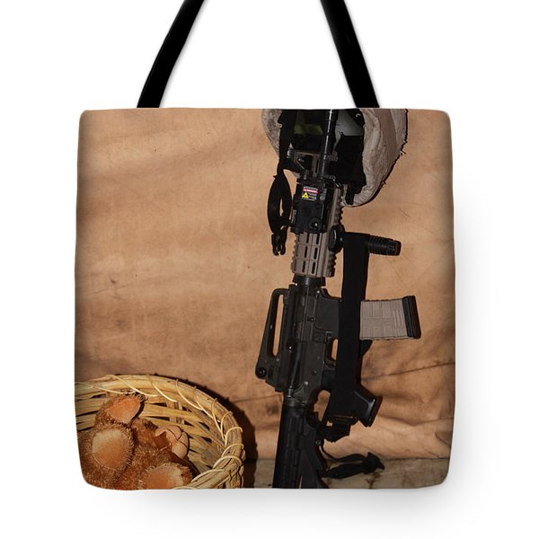 After A Hard Day In Combat Tote Bag by Shoal Hollingsworth