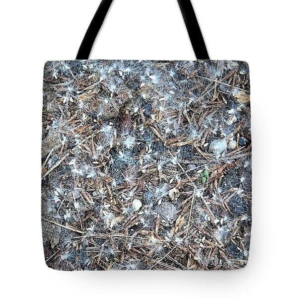 Tote Bag featuring the photograph After Jackson Pollock by Steven Richman