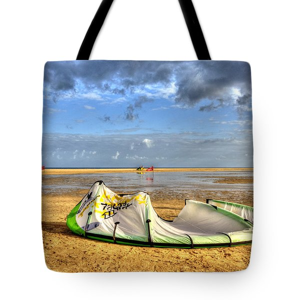 Tote Bag featuring the photograph After Kiteboarding Session by Julis Simo