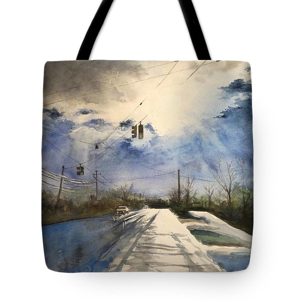 After Rain -on The Michigan Ave. Saline Michigan Tote Bag by Yoshiko Mishina
