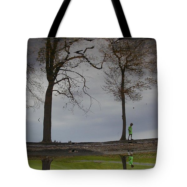 After Soccer By The Pond Tote Bag