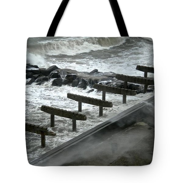 Tote Bag featuring the photograph After Storm Sandy by Joan Reese