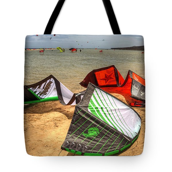 Tote Bag featuring the photograph After The Kite Session by Julis Simo