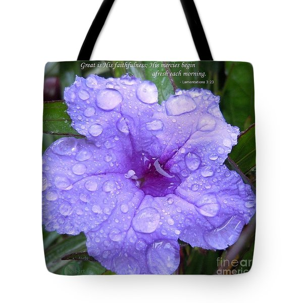 After The Rain #3 Tote Bag by Robert ONeil