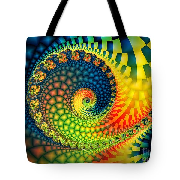 After The Rain-fractal Art Tote Bag