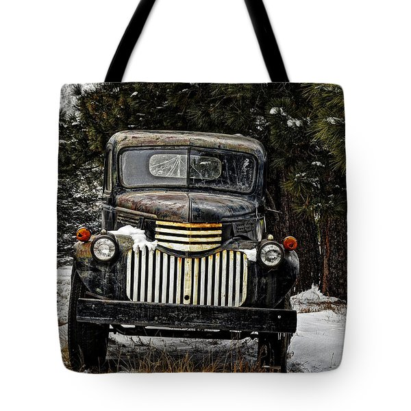 After The Snow Falls Tote Bag by Ken Smith