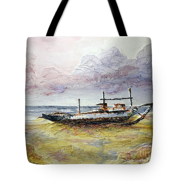 Tote Bag featuring the painting After The Storm by Joey Agbayani
