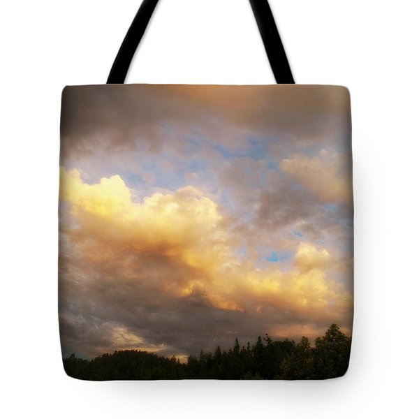 After The Storm -  Lake Arrowhead Tote Bag by Glenn McCarthy Art and Photography