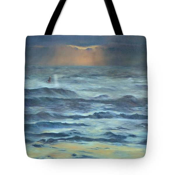 Tote Bag featuring the painting After The Storm by Lori Brackett