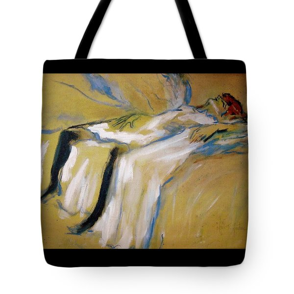 Tote Bag featuring the painting after Toulouse Lautrec by Jodie Marie Anne Richardson Traugott          aka jm-ART