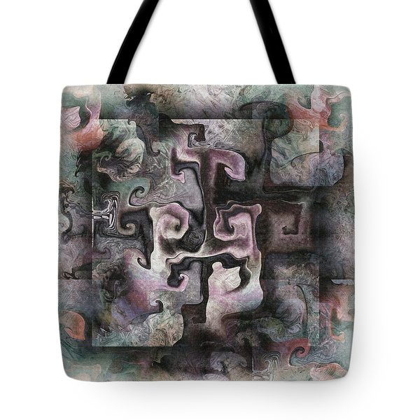 Tote Bag featuring the digital art Aftermath by Kim Redd
