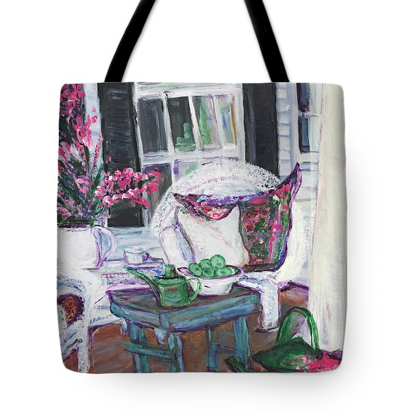Afternoon At Emmaline's Front Porch Tote Bag
