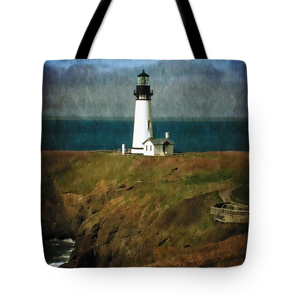 Afternoon At The Yaquina Head Lighthouse Tote Bag