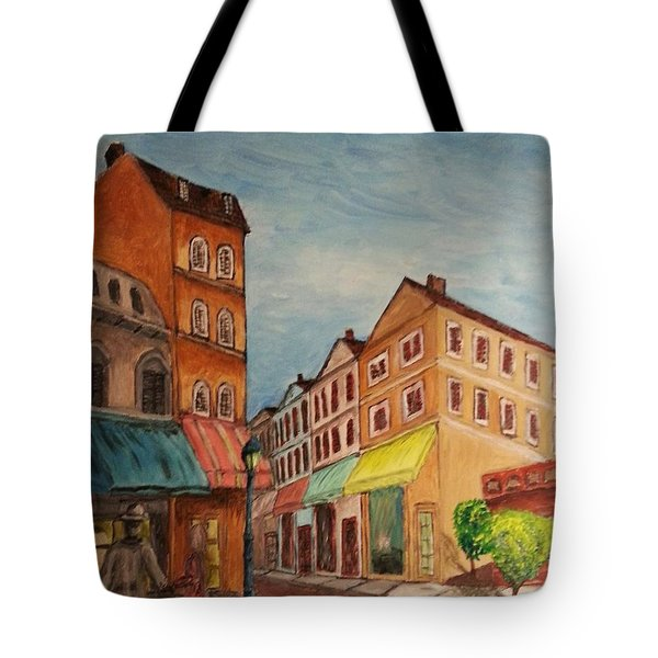 Afternoon Cafe Tote Bag by Irving Starr
