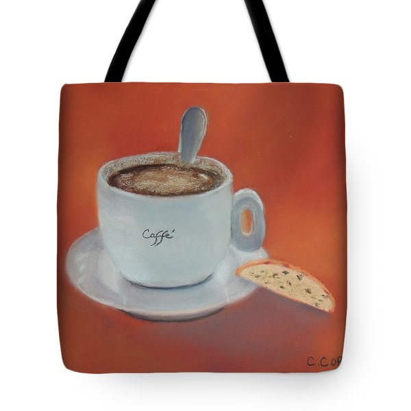 Afternoon Caffe Tote Bag
