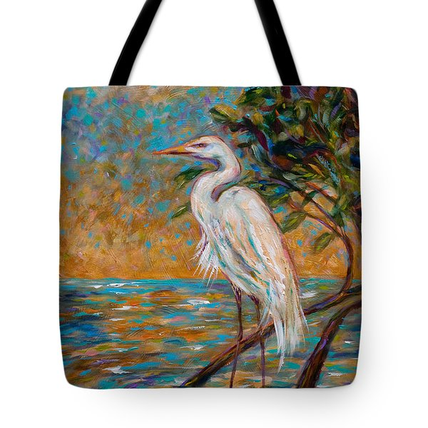 Afternoon Egret Tote Bag