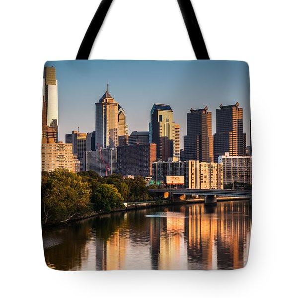 Tote Bag featuring the photograph Afternoon In Philly by Mihai Andritoiu