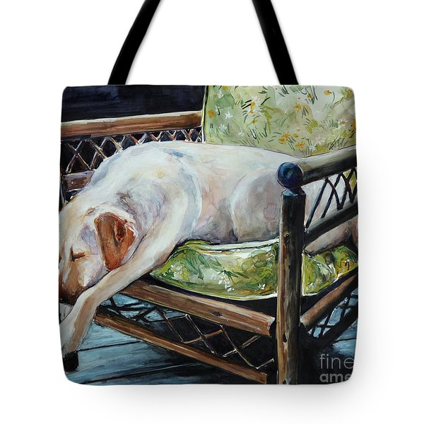 Afternoon Nap Tote Bag by Molly Poole