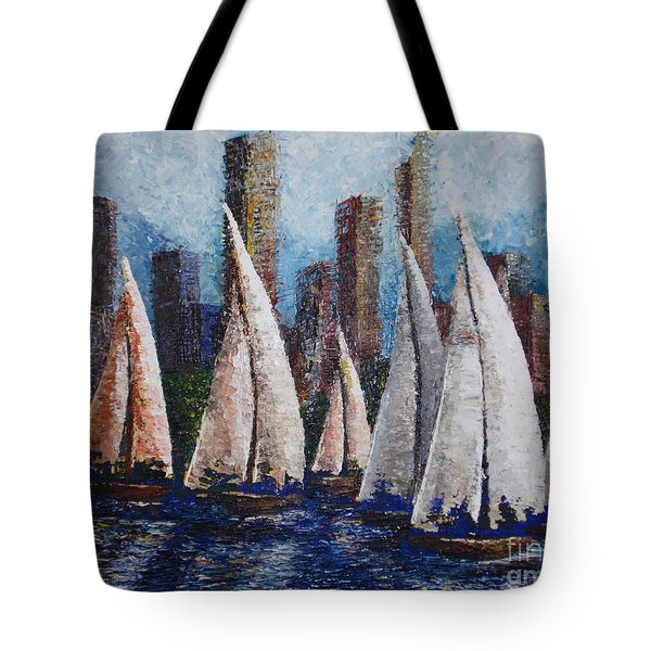 Afternoon Race 2012 Tote Bag by Tatjana Popovska
