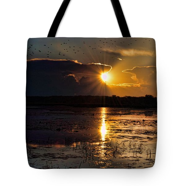 Tote Bag featuring the photograph Late Afternoon Reflection by Dale Kauzlaric