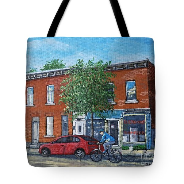 Afternoon Ride Pointe St Charles Tote Bag by Reb Frost
