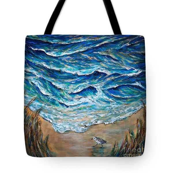 Tote Bag featuring the painting Afternoon Tide by Linda Olsen