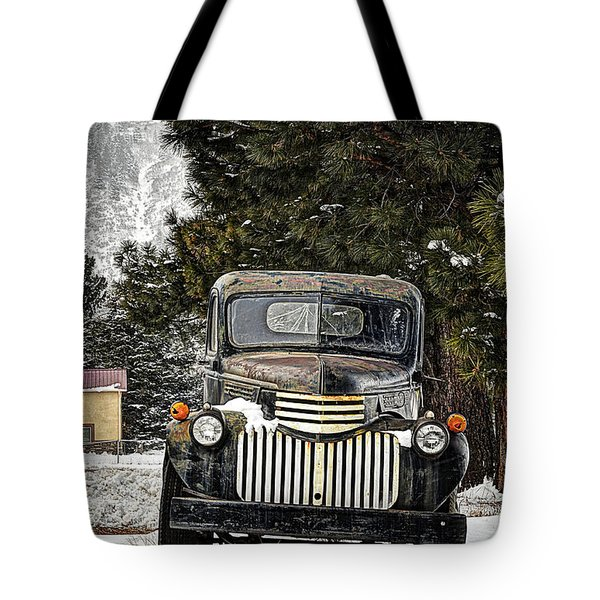 Afther The Snow Falls Verticle Tote Bag by Ken Smith