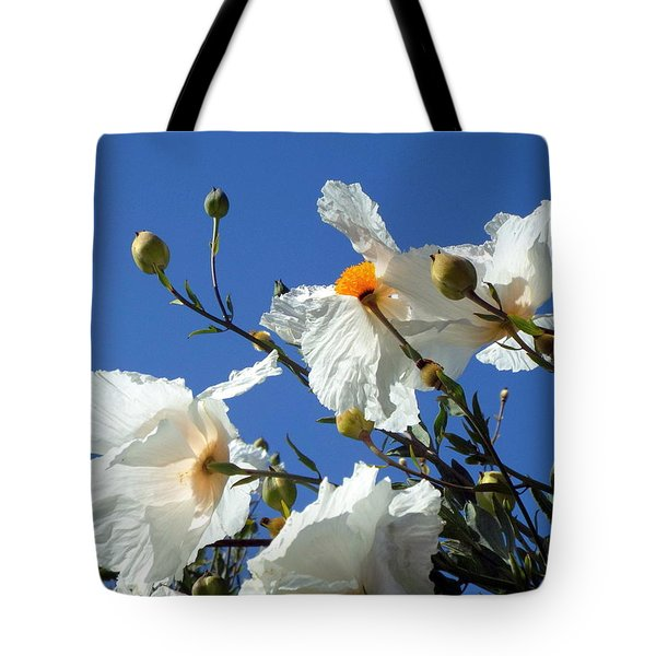 Against The Blue Sky Tote Bag