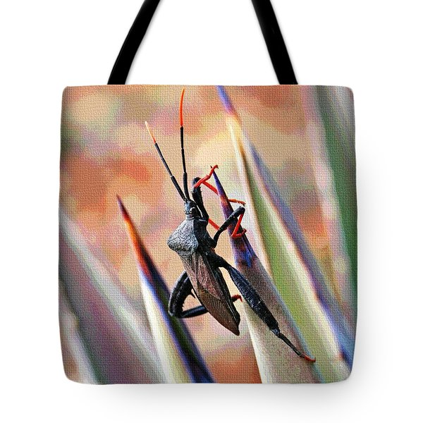 Tote Bag featuring the photograph Agave Bug  by Tom Janca