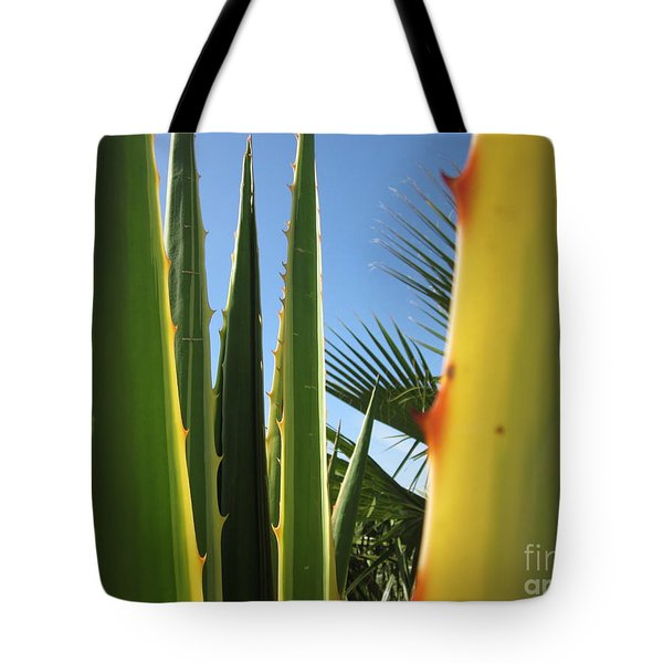 Agaves And Palm Trees Tote Bag