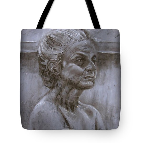 Aged Woman Tote Bag