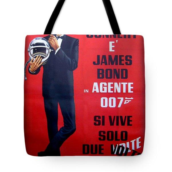 Agente 007 Si Vive Solo Due Volte Tote Bag by Georgia Fowler