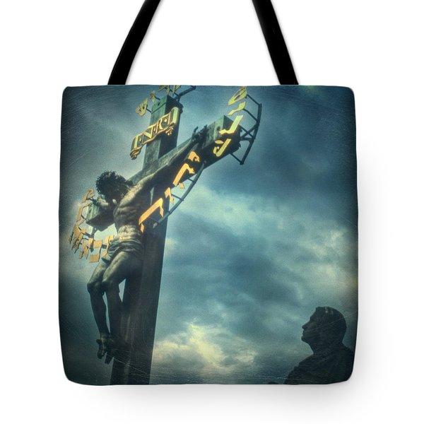 Agfacolor Jesus Tote Bag by Taylan Apukovska