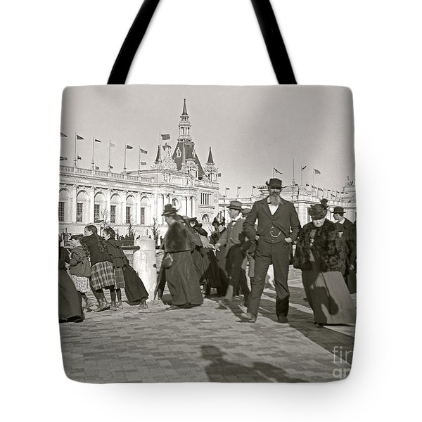 Tote Bag featuring the photograph Agricultural Building Omaha Expo 1898 by Martin Konopacki Restoration