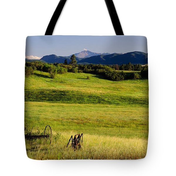 Agricultural Equipment In A Field Tote Bag