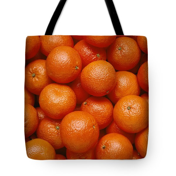 Agriculture - Field Of Tangerines Tote Bag by Joel Glenn